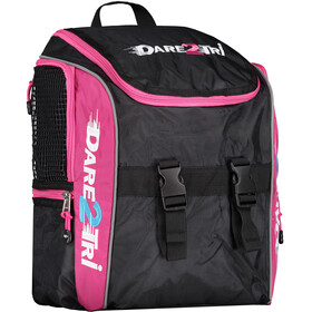 Dare2Tri Transition Rugzak 13L, black/pink